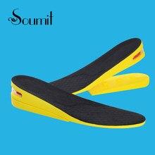 bc8533ba64 Soumit 2-capa ajustable cómodo Invisible aumento de la altura zapatos  plantillas para hombres mujeres deporte de aire del Taller.