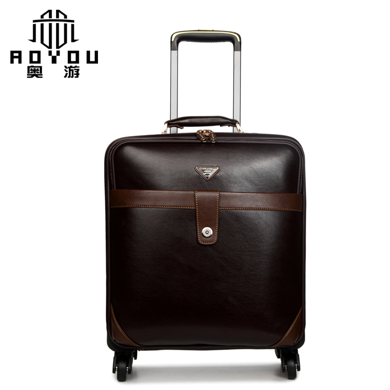 Black Leather Suitcase Men Promotion-Shop for Promotional Black ...