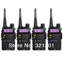 4-PCS New Black BAOFENG UV-5R Walkie Talkie VHF/UHF 136-174