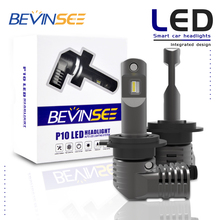 Bevinsee Car H7 LED Headlight Bulbs 6400LM 9V-32V For BMW 328d 2014-2018 xDrive Fog Lamps
