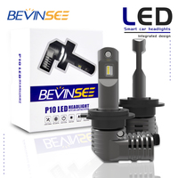 Bevinsee Car H7 LED Headlight Bulbs 6400LM 9V 32V For BMW 328d 2014 2018 328d xDrive 2014 2018 Fog Lamps