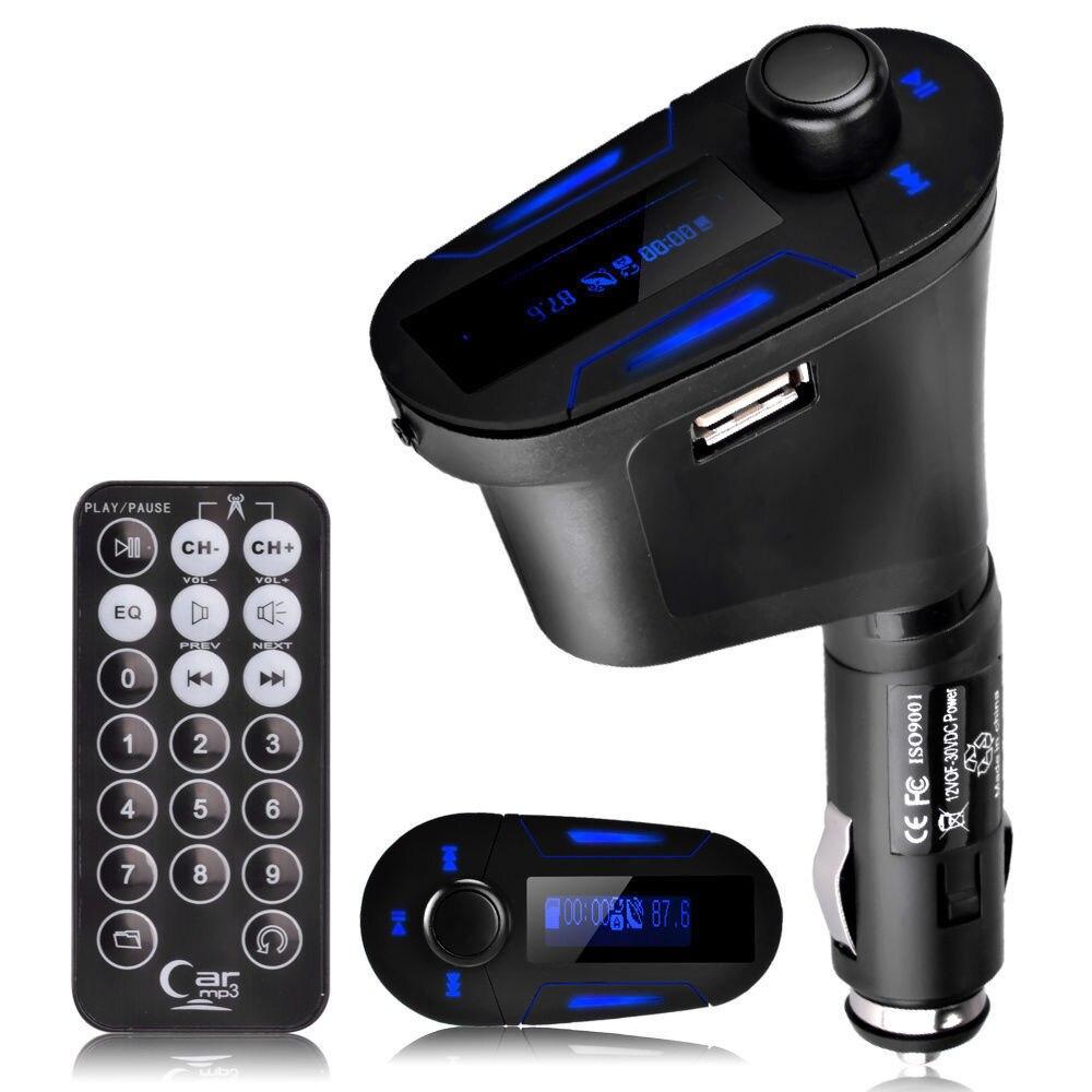 FM vysílač Hands free Bluetooth Bezdrátový MP3 přehrávač Modulátor Car Kit 3,5 mm Aux USB nabíječka Příslušenství FM Transmissor