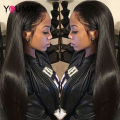 250% High Density Peruvian Straight Lace Front Wigs For Black Women 7A Glueless Full Lace Human Hair Wigs With Baby Hair Around