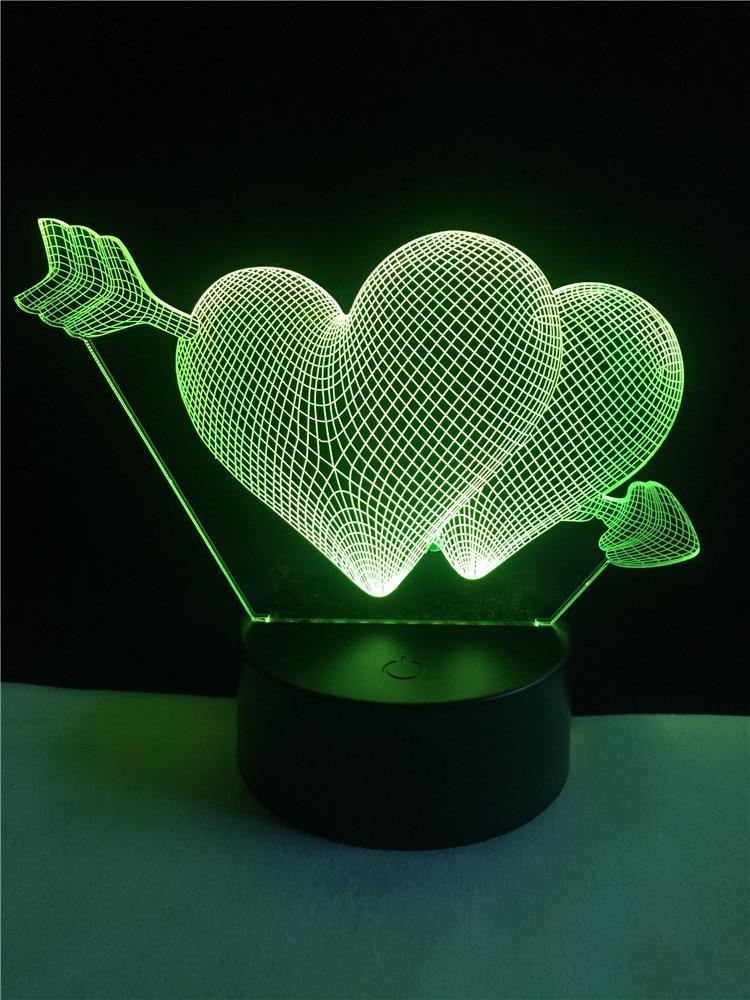 Luzes da Noite querida melhor presente Formato : Coração