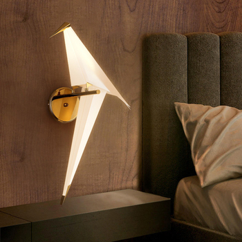 Gold wall lamp for living room Bedroom Hallway Bedside origami light home interior decoration Creative Paper Nordic Wall lamp