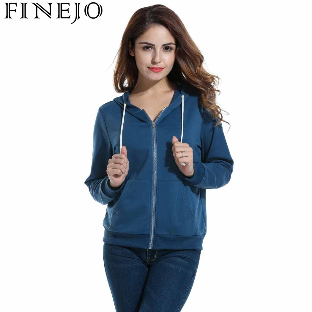 FINEJO Women Hoodies Sweatshirt Long Sleeve Zip Sweatshirts Feminino Autumn Winter Moleton Pullovers Harajuku Hoodie Plus Size