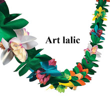 Flower-Garland Birthday-Banner Carnival Paper Banner-Quality Wedding Party Colorful Adult
