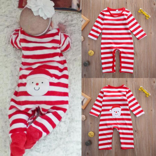 2016 Christmas Baby rompers Lovely Santa Claus Costume kids newborn clothes long sleeve spring children infant clothing set