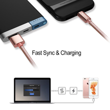 ROCK Metal Micro USB Cable Data Sync Cord for Android