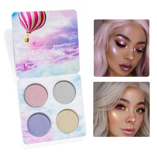 Marca de maquillaje luz brillante paleta de sombra de ojos de Color a 4 desnudo bálsamo minerales en polvo pigmentos cosméticos brillo sombra de ojos que