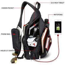 Męskie torby na ramię USB Charge torba Crossbody Anti theft torba na klatkę piersiową duża pojemność 10 5 #8222 torba na telefon komórkowy Ipad tanie tanio KAKA Flap Chest Bags CN (pochodzenie) Oxford zipper SOFT Boczna kieszeń moda KAKA-99001-1 COTTON Versatile Solid Single