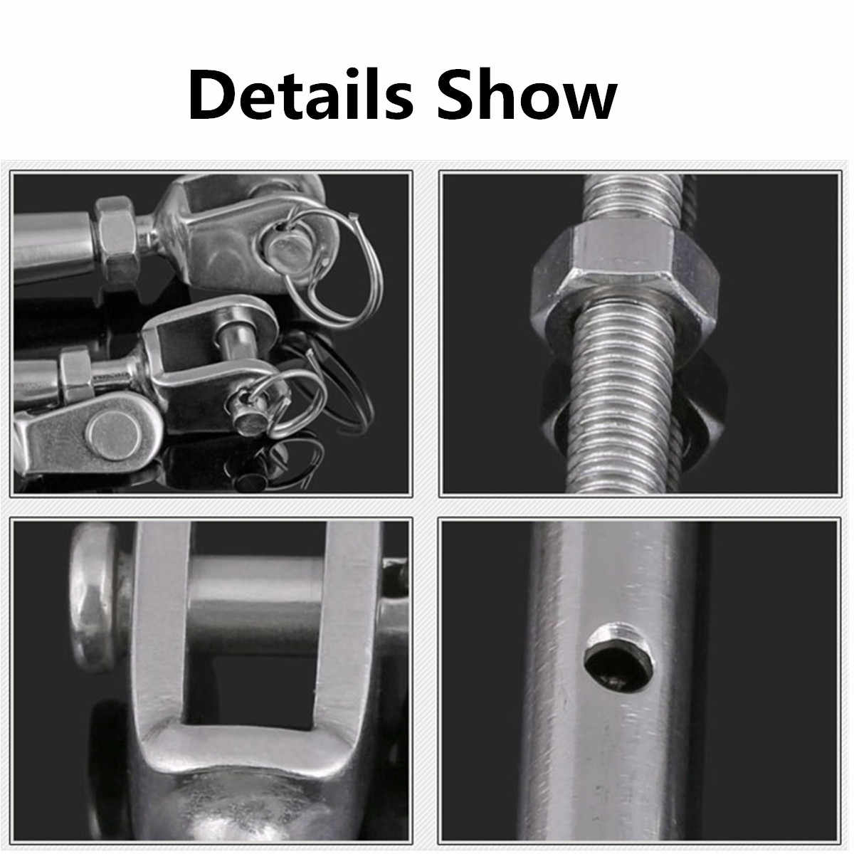 8mm/6mm/5mm 316 Stainless Steel Rigging Screw For Fastening and Binding Rope Safe Closed Body Jaw/Jaw Turnbuckle For Boat Yacht