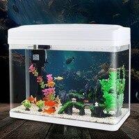 Рыбоводство коробка аквариум ясно Стекло аквариум творческий Малый мини аквариуме Настольный ленивый Золотая рыбка бак озеленение