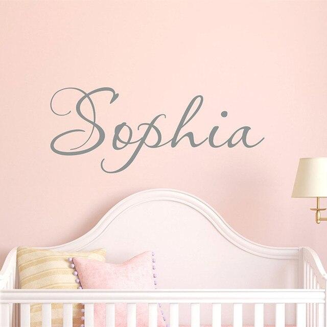 C055 Personalise Custom S Name Wall Stickers Kids Decals Children Bedroom Decoration Nursery