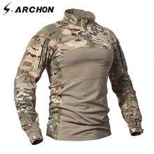 ทหารลำลองแขนยาว เสื้อผู้ชาย Force เสื้อ