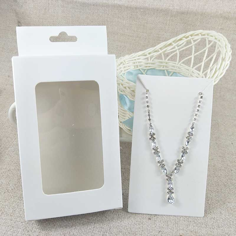 Feiluan custom200pcs window hanger box with 200pcs earring necklace card tag vintage gift display box with