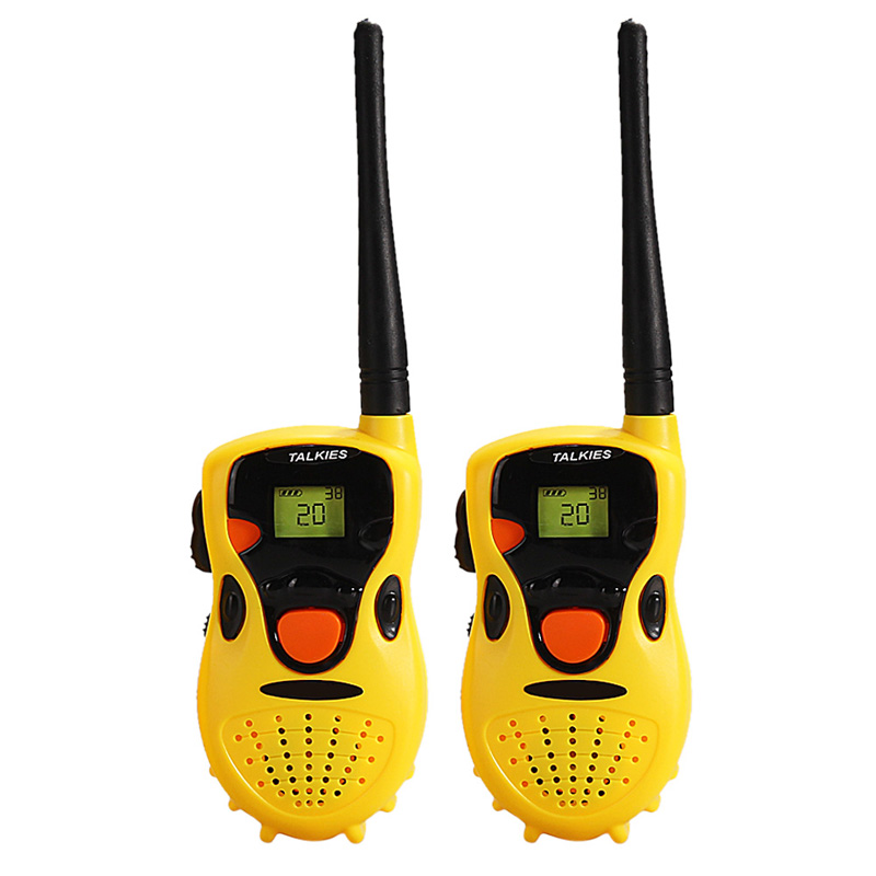2Pcs Kids Talkies Handheld Toys Walkie Talkies Children Gifts Educational Games Funny Electronic Toys Yellow