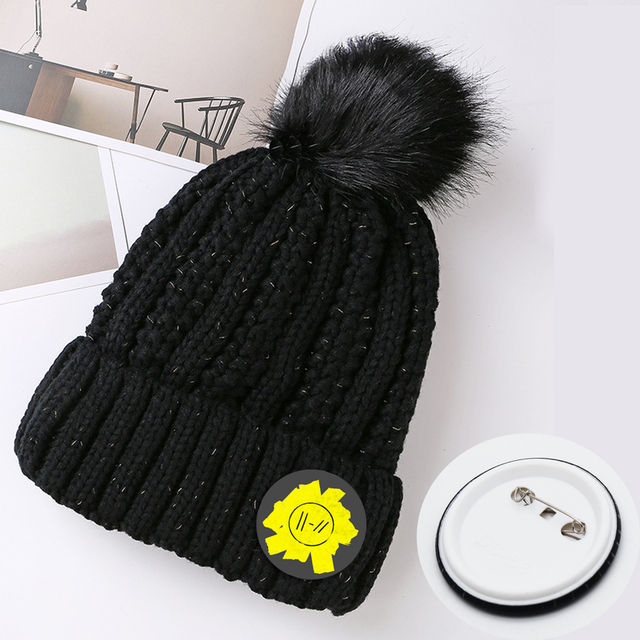 acc051a2417 Giancomics Band Twenty One Pilots Fashion Cosplay Costume Accessories  Twenty One Pilots Knitted Hat Cap Costume Accessory Gifts 32.1 ₪. White