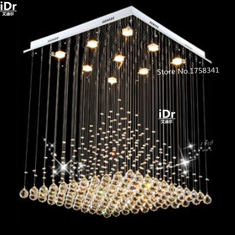 European-style living room lamp crystal chandelier modern minimalist square creative lighting bedroom lamp fishing line iDr-0014European-style living room lamp crystal chandelier modern minimalist square creative lighting bedroom lamp fishing line iDr-0014
