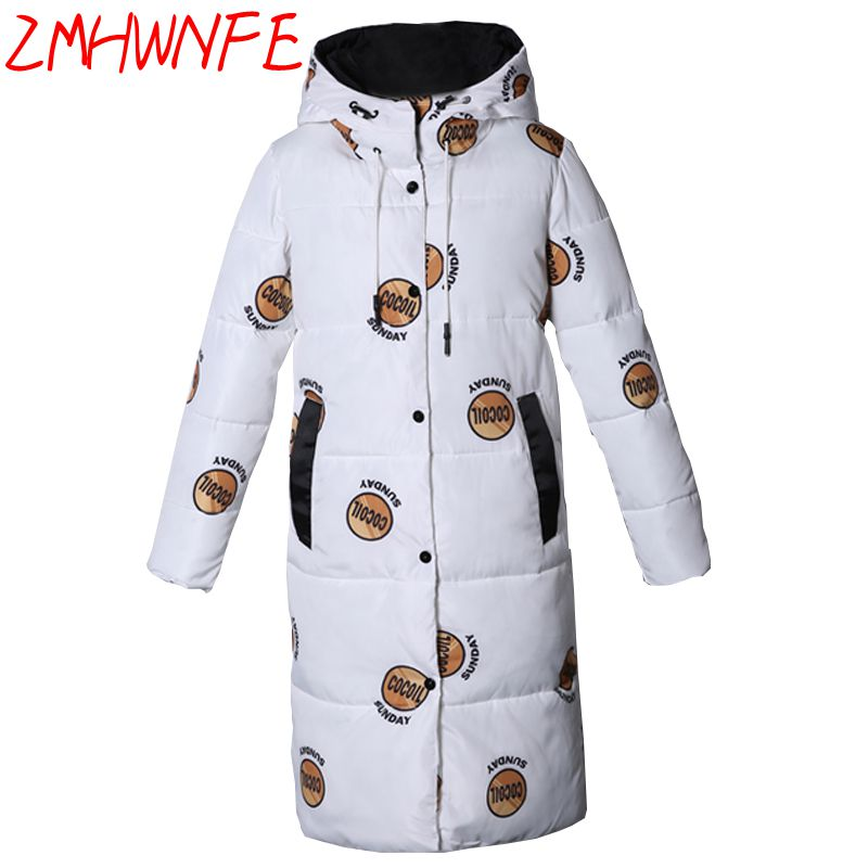 2017 Rushed New Full Zipper Broadcloth Womens Winter Jackets And Coats Winter Cotton Jacket Women Long Thick Large Size Coat