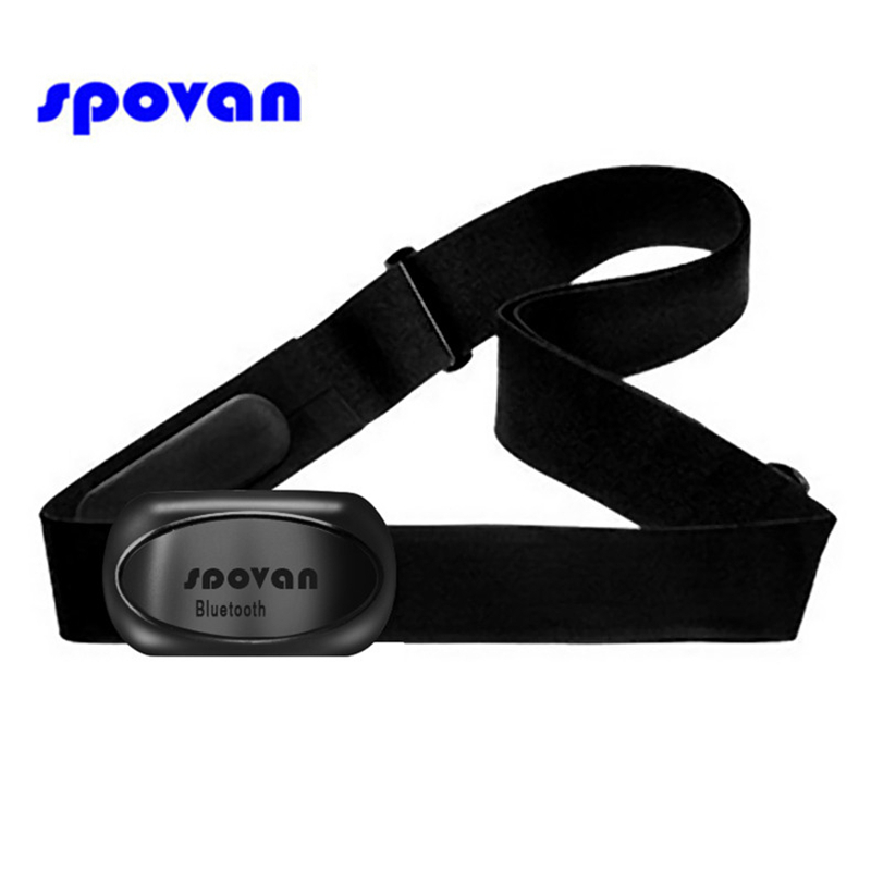 SPOVAN Wireless Bluetooth Heart Rate Monitor Chest Strap Belt For IPhone IPad Android 4.3 Smartphones & Smart Sport Watches 2019