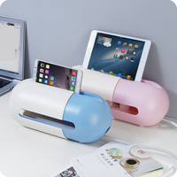 New arrival Retractable socket storage box phone holder case Cable Manager Organizer Outlet Board Container