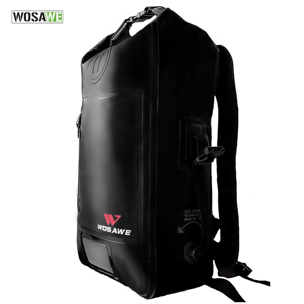 WOSAWE trou de Valve sac à dos de vélo étanche 25L sac de vélo sac de vélo vtt VTT moto à la dérive voyage bagages sacs