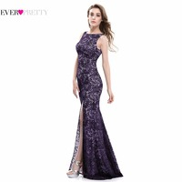 Mermaid Evening Dress Ever Pretty EP08859 2017 Long Sexy Sleeveless Split Formal Celebrity Lace Evening Gown