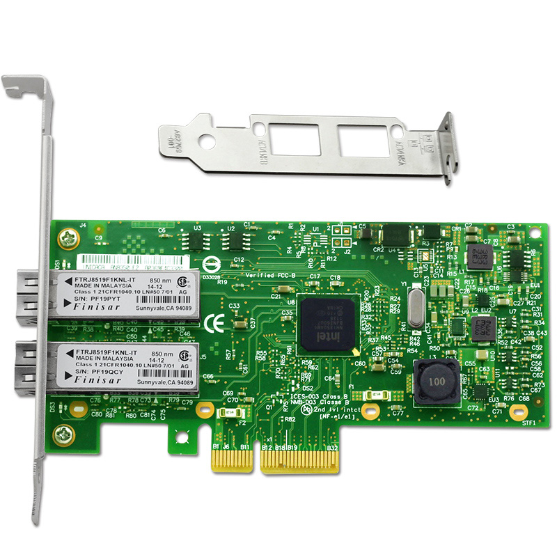 2 Ports Gigabit Fiber Server Adapter NIC Card Chipset for I350AM4 PCI E X4