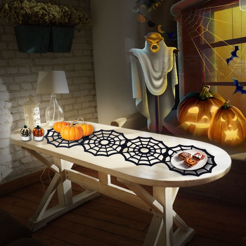 110cm spider web net pad black halloween easter festival tablecloth