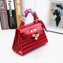 JONON Women Crocodile Padlock Bag Genuine Leather Bags For Women Famous Brand Designer Handbags High Quality Ladies Tote