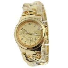 Новый конструктор женева стиль ковбой цепь часы сплав ремешок мужчины бизнес календарь кварцевые женщины браслет наручные часы