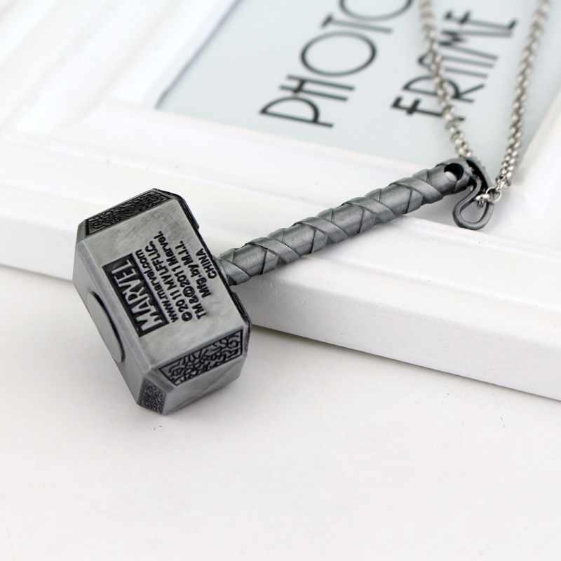 Hot Movie Avenger League młot thora Thor brelok naszyjnik brązowy srebrny klucz łańcucha dla mężczyzn kobiet prezenty