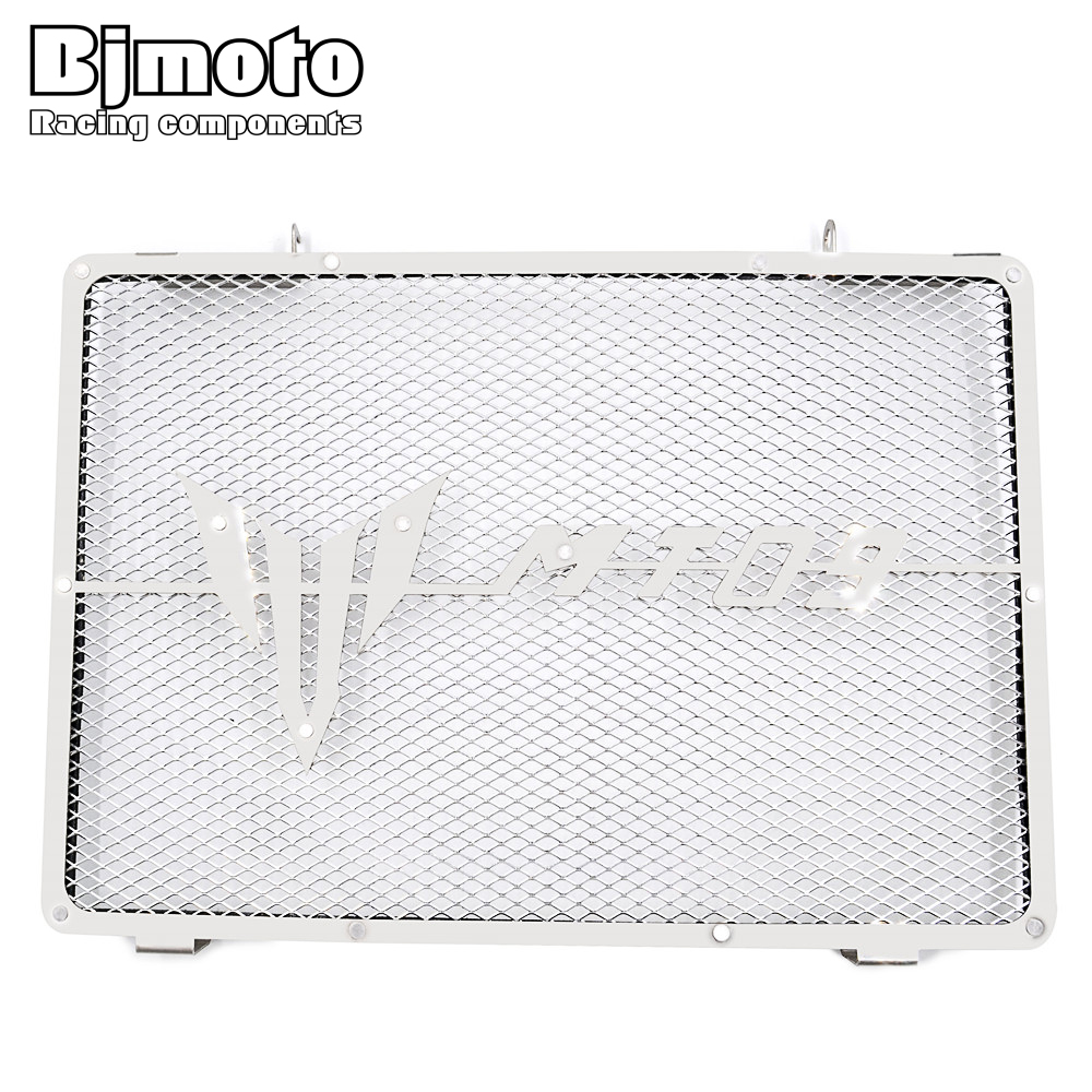 BJMOTO Motorcycle Engine Radiator Bezel Grill Grille Guard Cover Protector Stainless Steel Fit Yamaha MT09 2014 2015 2016 motorcycle radiator guard protector grille grill cover radiator grill cover for yamaha mt 09 mt09 2014 2015 2016