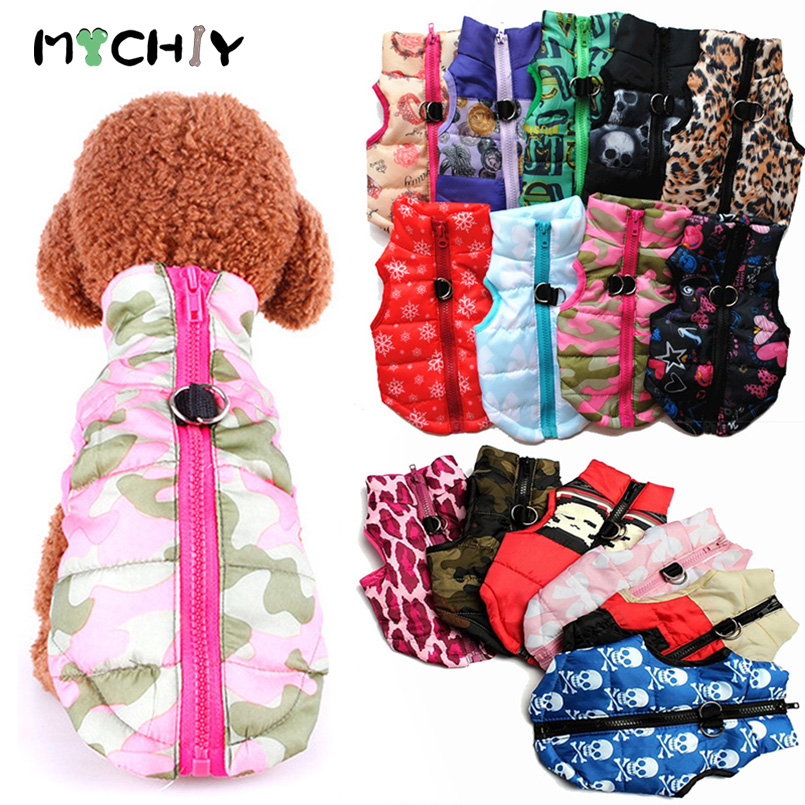 Warm Dog Winter Clothes For Small Dog Coat Jacket Puppy Pet Clothes For Dogs Costume Vest