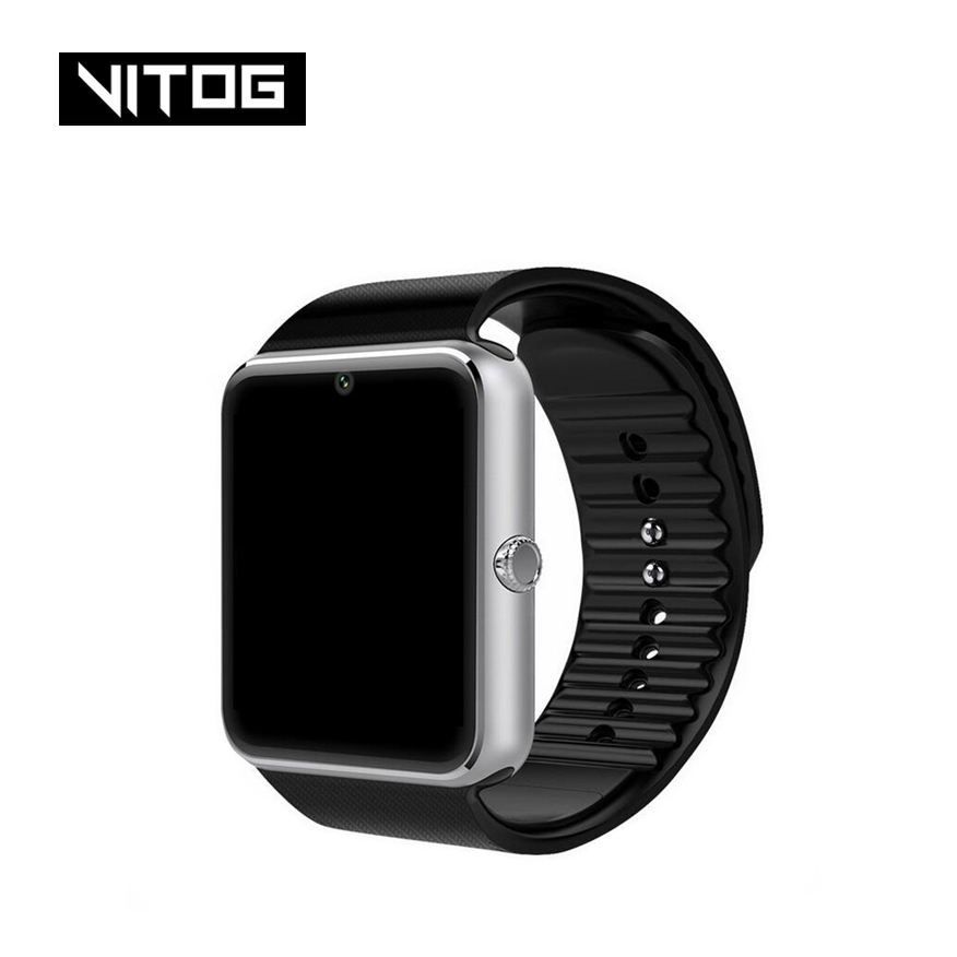 GT08 Bluetooth Smart Watch Phone Men Women Support 2G SIM TF Card Camera for Android Iphone Huawei Xiaomi Smartwatch PK Z60 X6-in Smart Watches from Consumer Electronics