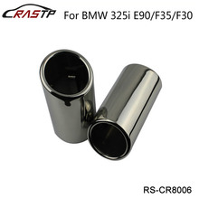 RASTP-Chrome 304 Stainless Steel Exhaust Muffler Tip for BMW 325i E90/F35/F30 RS-CR8006