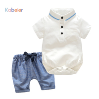 Newborn Boy Clothing Set Cotton Shorts Romper Shorts 3 24M Baby Suit Butterfly Bow Tie Infant