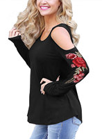 Sexy Off The Shouler Women Blouse Loose Casual Tops Tee Shirts Long Sleeve Tunic Large Size