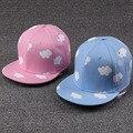 Ladies hip hop sombreros rosa y azul nubes en verano fresco y snapback sombreros de impresión de lona ocasional lindo gorras de béisbol envío gratis