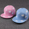 ladies hip hop hats pink and blue clouds in summer fresh and cute casual snapback hats print canvas baseball caps free shipping