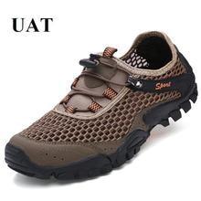 Nueva llegada de malla deporte al aire libre zapatos zapatillas de deporte de verano zapatos de senderismo al aire libre transpirables aqua zapatos hombre ligero