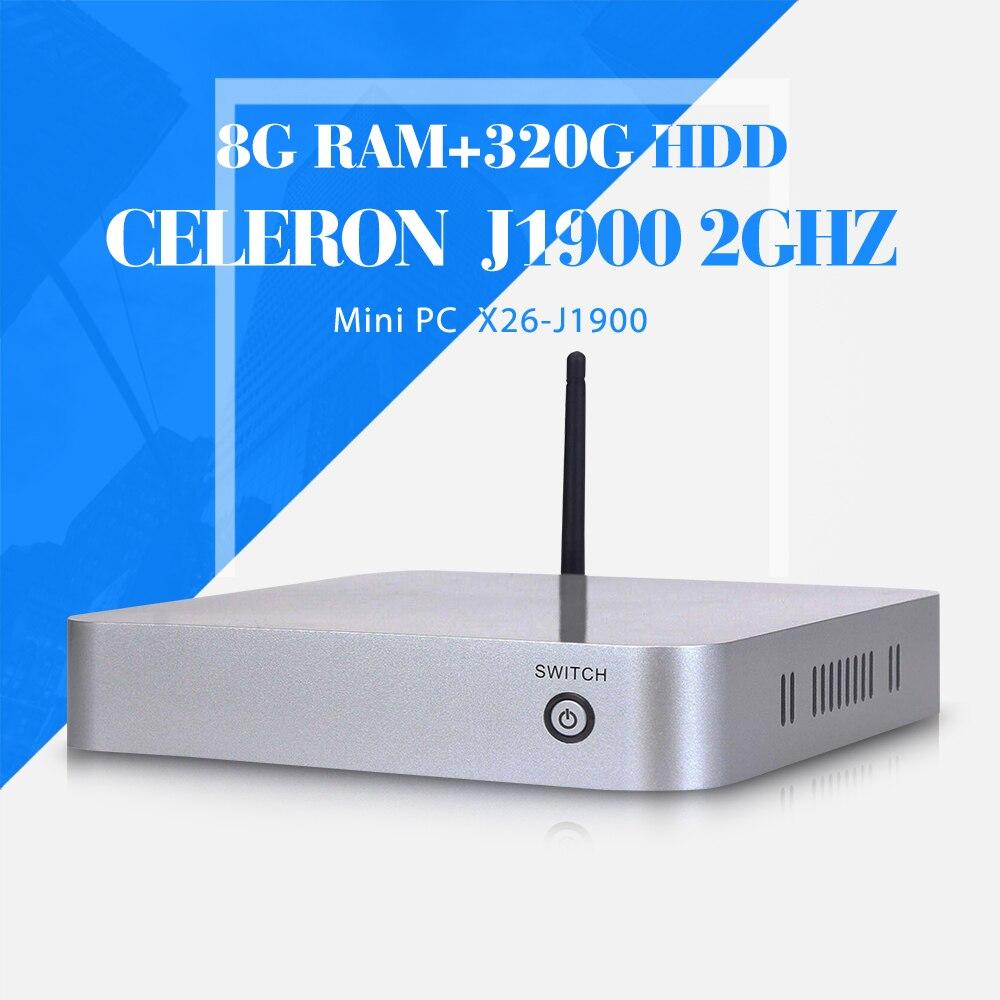Celeron bay J1900 8 g ram 320 g hdd + wifi último mini pc barato de escritorio p