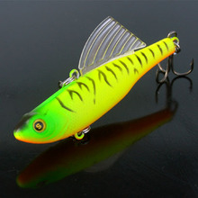 2pcs 14.5g winter fishing lures hard bait VIB with lead inside lead fish ice sea fishing tackle swivel jig wobbler lure