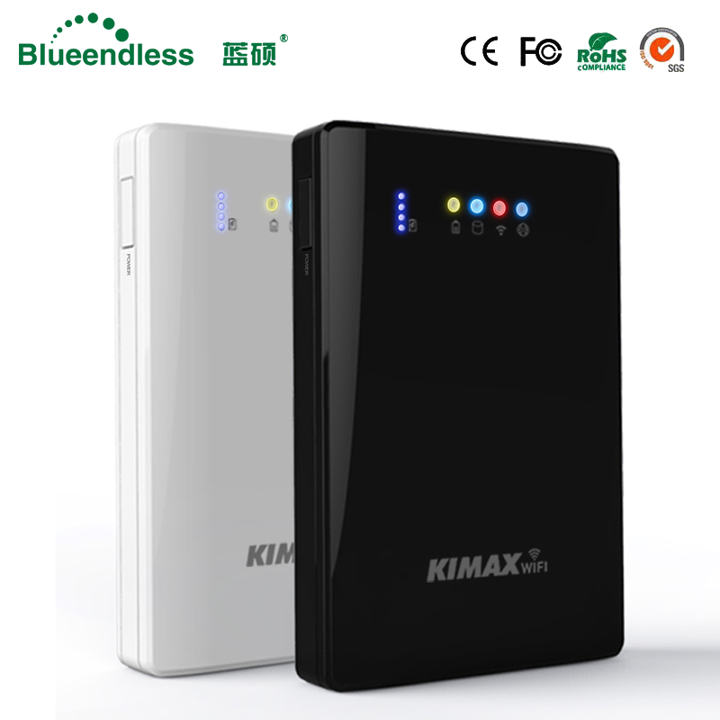 (Hard Drive Disk Inbegrepen) Laptop Hdd Wifi Externe Harde Schijf 2 Tb HDD 2.5 Sata Usb3.0 Draadloze Wifi Router 4000 Mah Powerbank