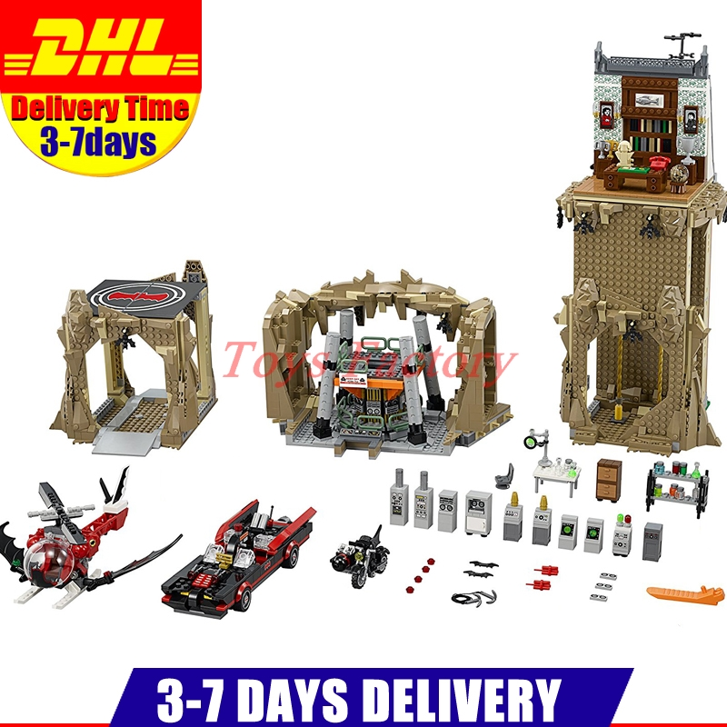 2018 Lepin 07053 2566 PCS Super Heroes Batman Classic TV Series - Batcave Model Building Kits Blocks Bricks Toys Clone 76052 lepin 07053 2566pcs genuine dc batman super heroes moc batcave educational building blocks bricks toys gift for children 76052