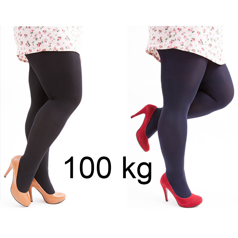 W58 Medias Mujer Plus Size Tights Velvet Collant Stretchy Pantyhose Solid Color Nylon Tights Female(China)