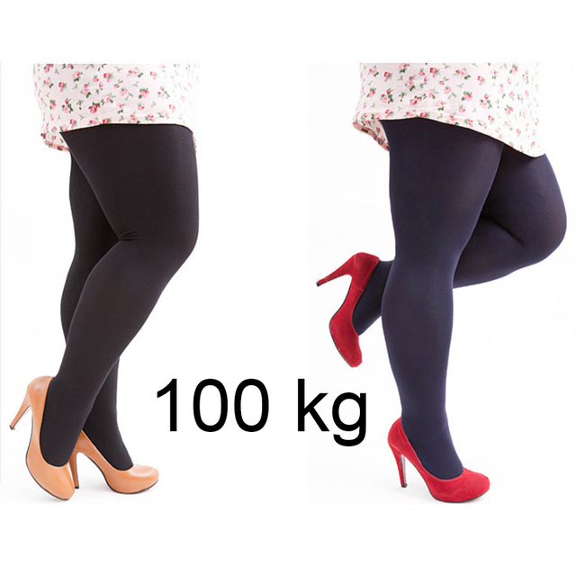 0085fc79c W58 Medias Mujer Plus Size Tights Velvet Collant Stretchy Pantyhose Solid  Color Nylon Tights Female