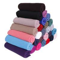 高品質ジャージスカーフ綿無地弾性ショールマキシヒジャーブロングイスラム教徒のヘッドラップロングスカーフ/スカーフ 10 ピース/ロット 35 色
