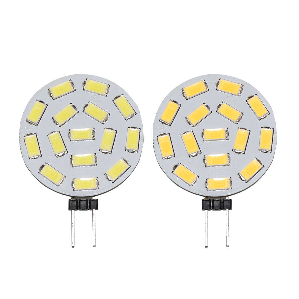 JYL High Quality 2W G4 15 5730 SMD LED Bulb White Warm White 525LM Home Light 10V-30V Spotlight